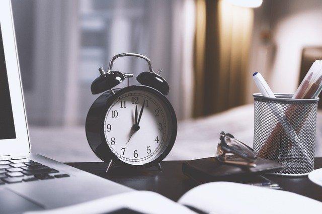 clock on desk